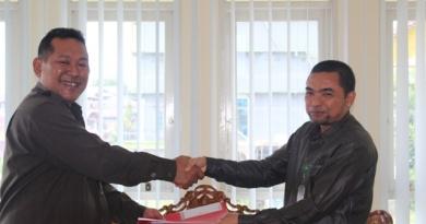 Penandatanganan SK Bersama Panjar Biaya Perkara PA dan PN Sanggau